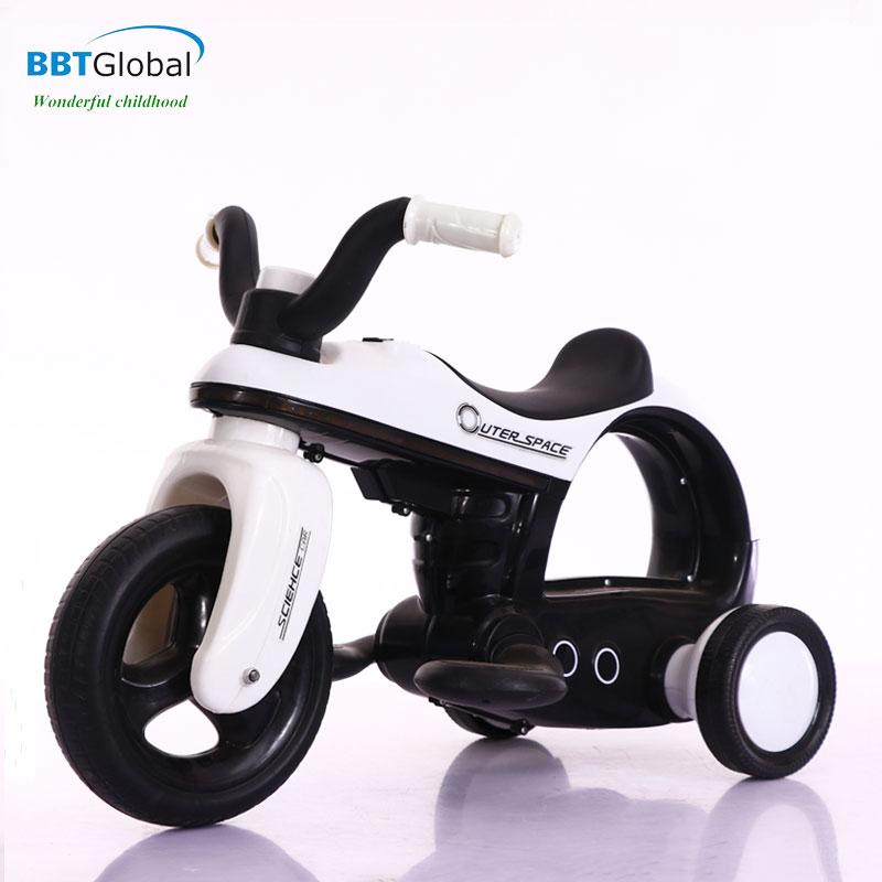 Xe máy điện trẻ em màu trắng BBT-800T