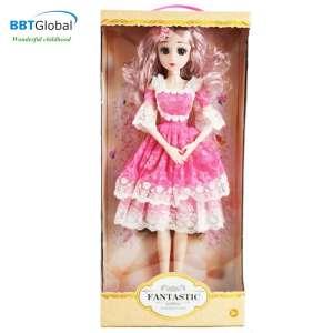 Búp bê công chúa váy hồng cao 56cm các khớp cử động 513