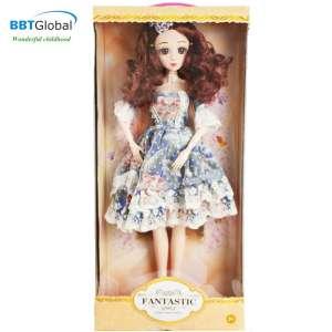 Búp bê công chúa váy xanh cao 56cm các khớp cử động 513