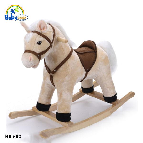Bập bênh thú ngựa bông đáng yêu RK-503