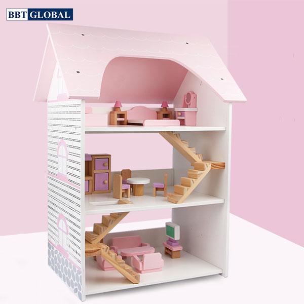 Đồ chơi ngôi nhà búp bê bằng gỗ cao cấp MSN19004