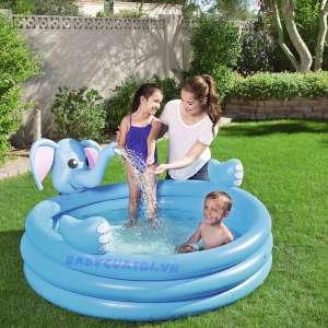 Bể bơi phao 3 tầng con voi có vòi phun mưa 1m52 Bestway 53048