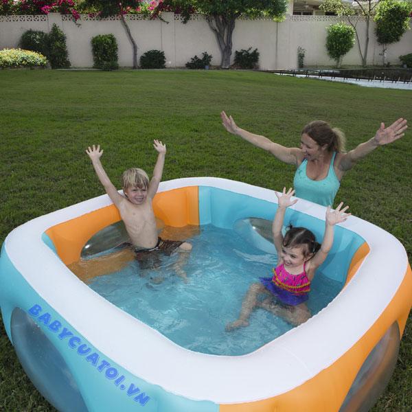 Bể bơi phao vuông 1m7 Bestway 51132