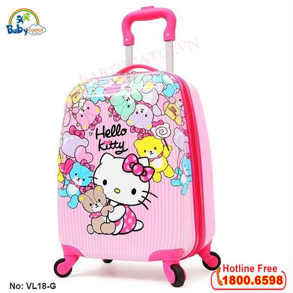 Vali trẻ em bé gái Hello Kitty 18 inch VL18-G3