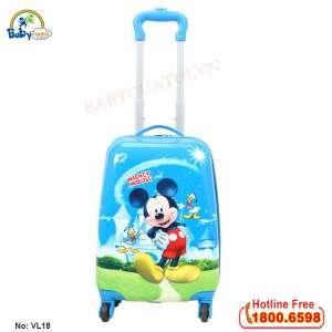 Vali trẻ em bé trai chuột Mickey 18 inch VL18-T2