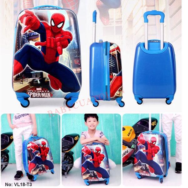 Vali trẻ em bé trai người nhện spider man 18 inch VL18-T3
