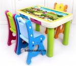 Bộ bàn ghế cho bé nhập khẩu cao cấp sắc mầu F004A
