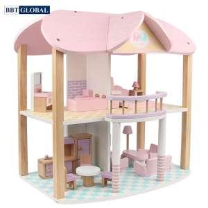 Đồ chơi ngôi nhà búp bê bằng gỗ cao cấp MSN19029