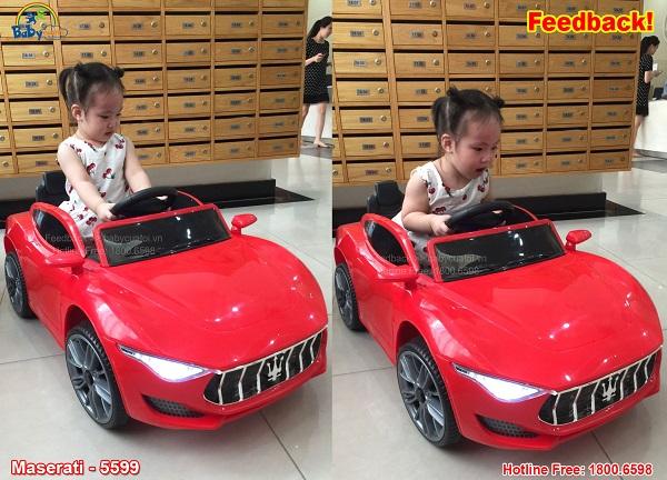 Xe oto điện trẻ em Maserati màu đỏ BBT-5599D