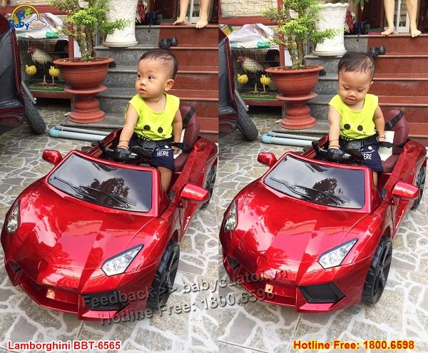 Xe ô tô điện trẻ em Lamborghini BBT-6565
