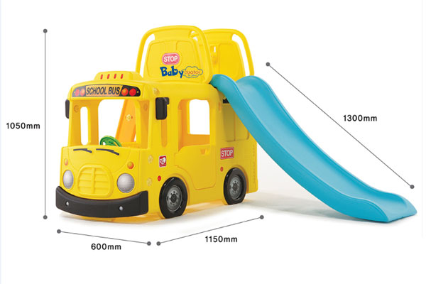 Cầu trượt bể bóng Hàn Quốc xe bus trường học 3 trong 1 Y1602