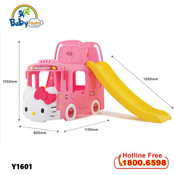 Cầu trượt bể bóng Hàn Quốc xe Bus Hello Kitty 3 trong 1 Y1601_6