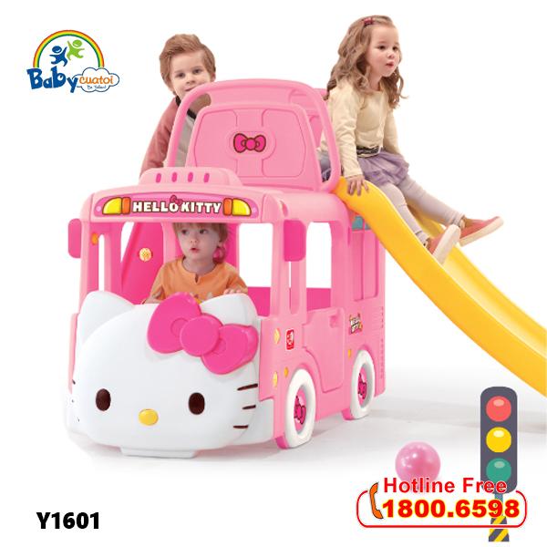 Cầu trượt bể bóng Hàn Quốc xe Bus Hello Kitty 3 trong 1 Y1601