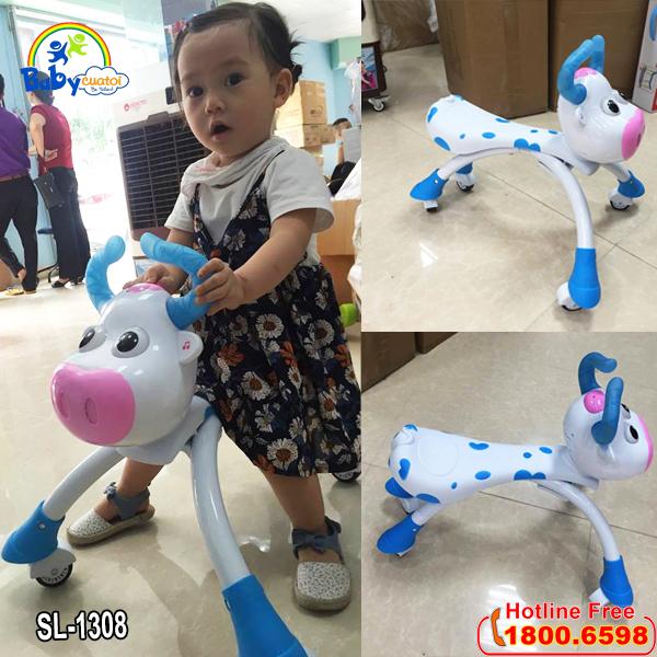 Xe chòi chân hình chú bò sữa SL1308X