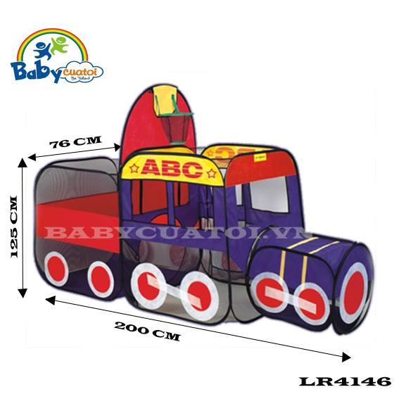Đồ chơi nhà bóng, lều bóng tàu hỏa lr4146