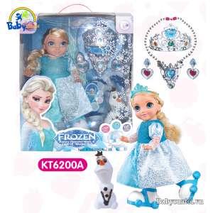 Đồ chơi búp bê Elsa cao cấp trượt băng cho bé KT6200A