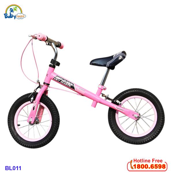 Xe cân bằng trẻ em bánh hơi tay phanh màu hồng BL011H