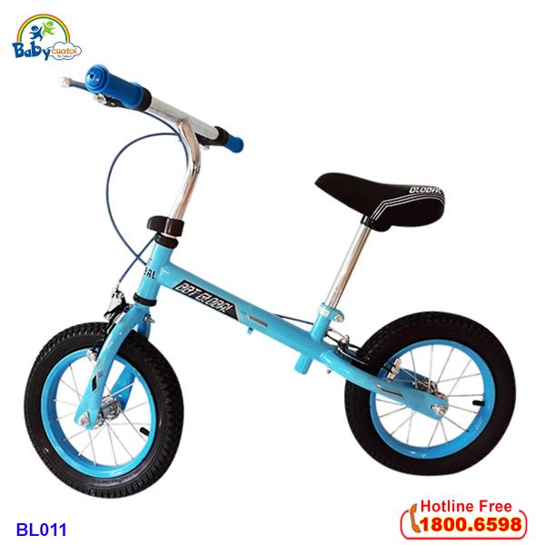 Xe đạp cân bằng bánh hơi tay phanh màu xanh BL011X