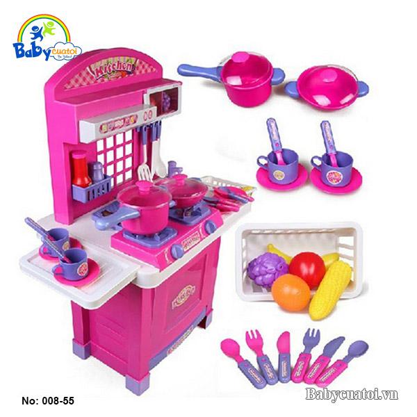 Đồ chơi nấu ăn cao cấp màu hồng 008-55