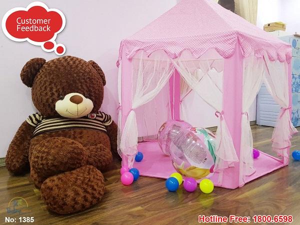 Lều công chúa cho bé màu xanh màu hồng
