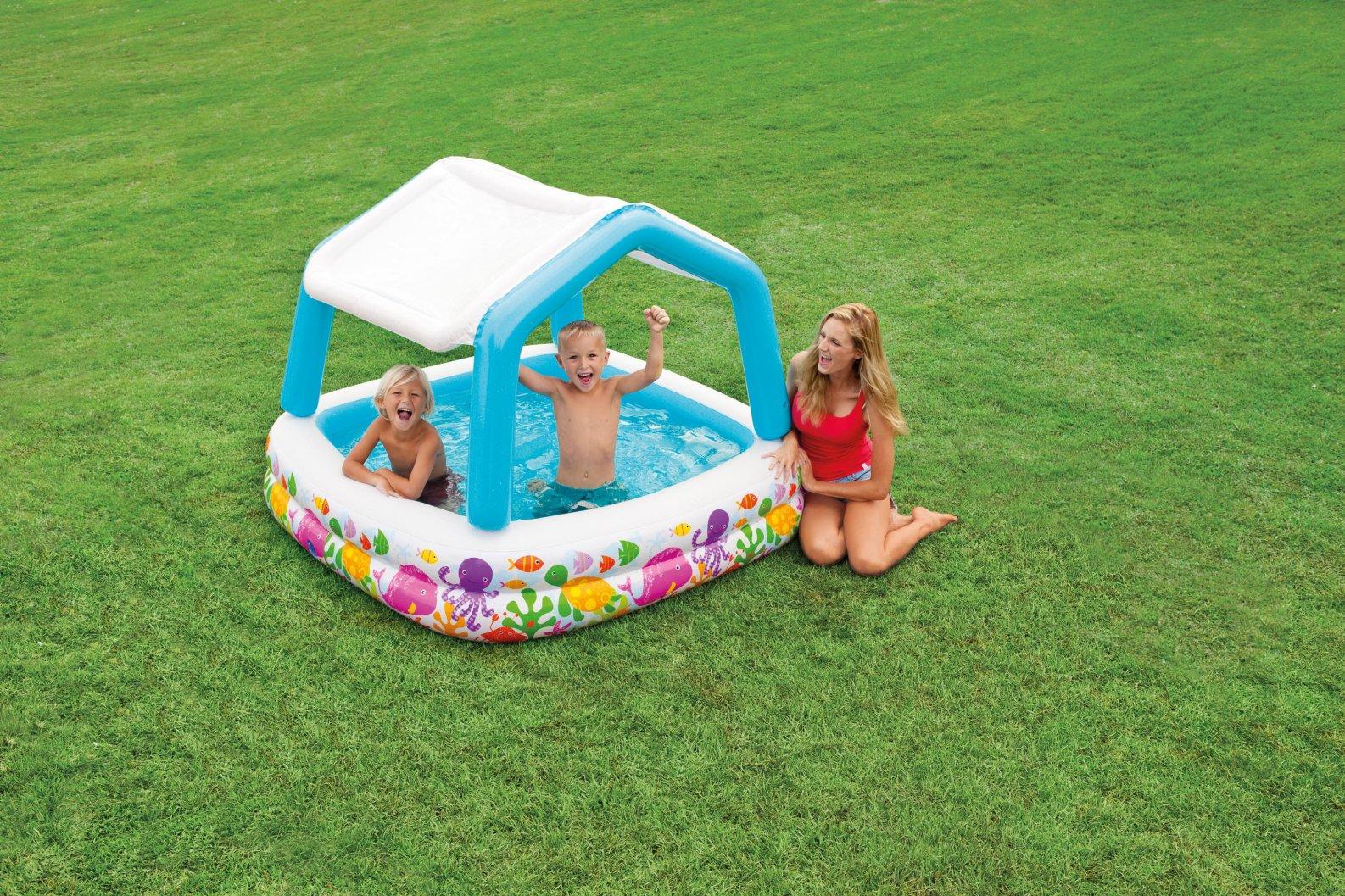 Bể bơi phao 2 tầng cho bé INTEX có mái che 57470