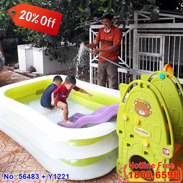 bể bơi phao cho bé tại nhà