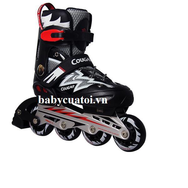 Giày trượt Patin Cougar 835L-12 màu đen