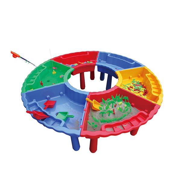 Bàn đồ chơi liên hoàn câu cá, xúc cát, trồng cây KXZY-009