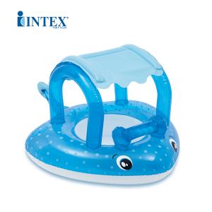 Phao bơi xỏ chân cá đuối có mái che INTEX 56589