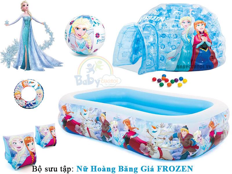 bể-bơi-phao-bơi-cho-bé-frozen-baby