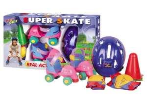 Bộ giày trượt patin 2 hàng bánh cho bé 30002