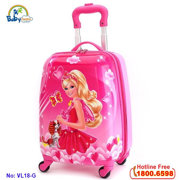 Vali trẻ em bé gái công chúa Barbie 18 inch VL18-G4
