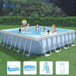 Bể bơi lắp ghép khung kim loại chịu lực vuông 4m27 INTEX 26764