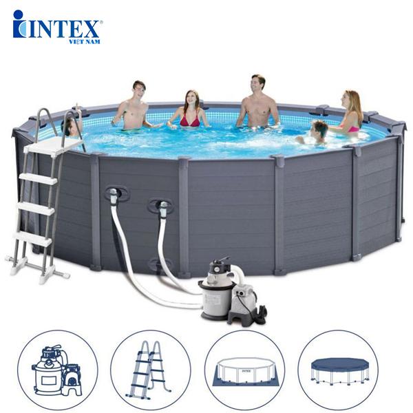 bể bơi lắp ghép gia đình tròn INTEX 26384