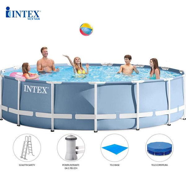 Bể bơi khung kim loại 4m57 có máy lọc nước INTEX 26734