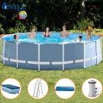 Bể khung kim loại tròn 4m57 có máy lọc nước INTEX 26736