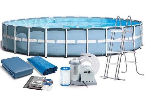 Bể bơi khung kim loại chịu lực tròn 7m32 INTEX 26762