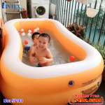 Bể bơi phao hình chữ nhật màu cam INTEX 57181