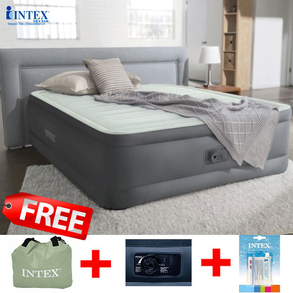 Giường hơi tự phồng công nghệ PremAire 1m52 INTEX 64906