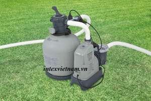 Máy lọc cát và hệ thống lọc muối tạo clo đa năng Intex 28680