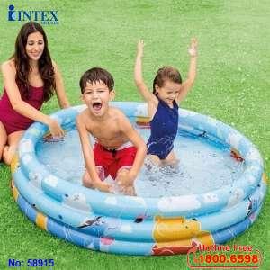 Bể bơi phao 3 tầng 1m47 Gấu Pooth INTEX 58915