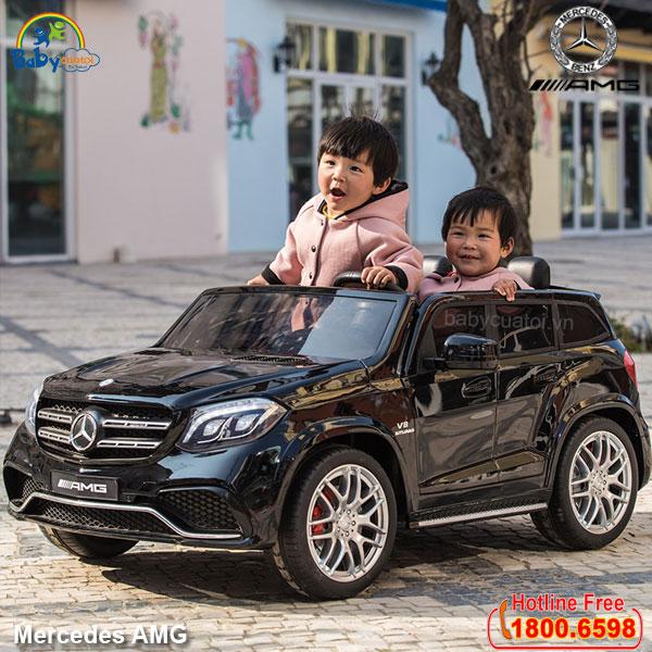 Ô tô điện trẻ em MERCEDES bản quyền sơn đen cao cấp AMG-B