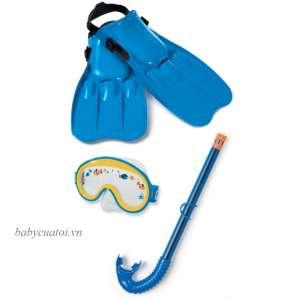 Bộ kính bơi chân vị ống thở trẻ em INTEX 55951