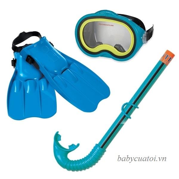 Bộ kính bơi chân vị ống thở intex 55952