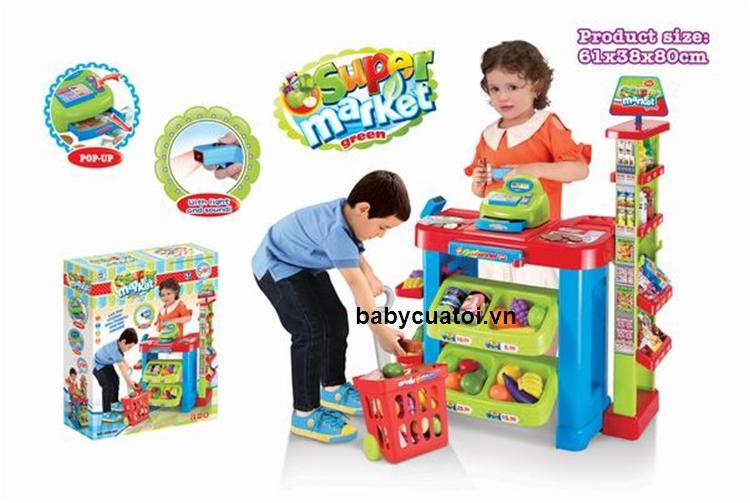 Đồ chơi trẻ em siêu thị mini cao cấp được làm từ nhựa nguyên sinh, rất an toàn với trẻ khi chơi
