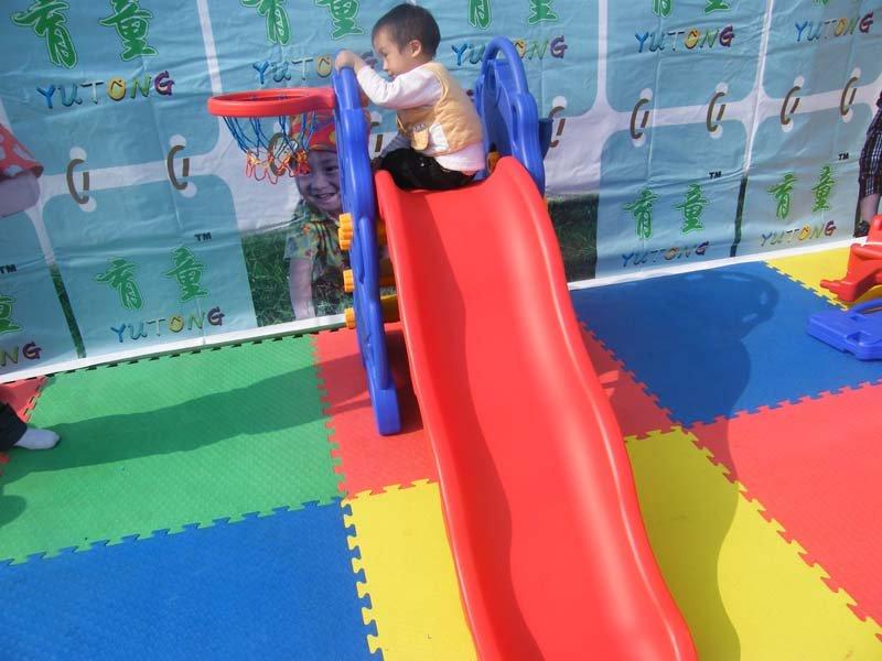 Cầu trượt cho bé hình voi con có ném bóng rổ - KT011