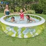 Bể bơi phao tròn họa tiết xanh lá 2m29 INTEX 57182