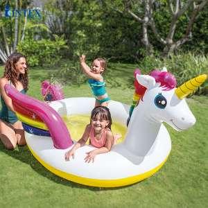 Hồ bơi phao ngựa thần sắc màu có vòi phun mưa INTEX 57441