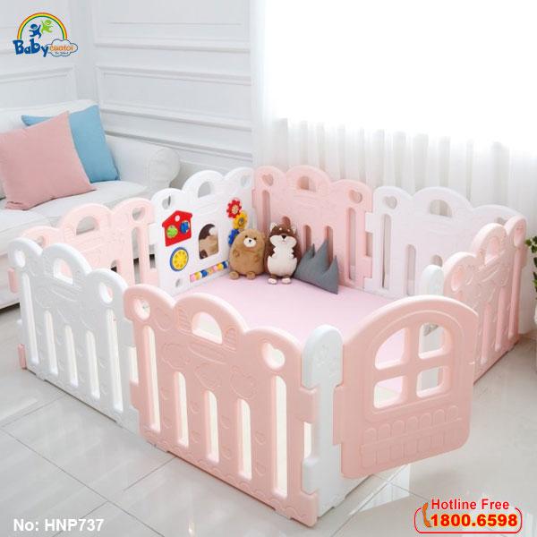 Quây cũi nhựa Hàn Quốc cho bé HNP737-8