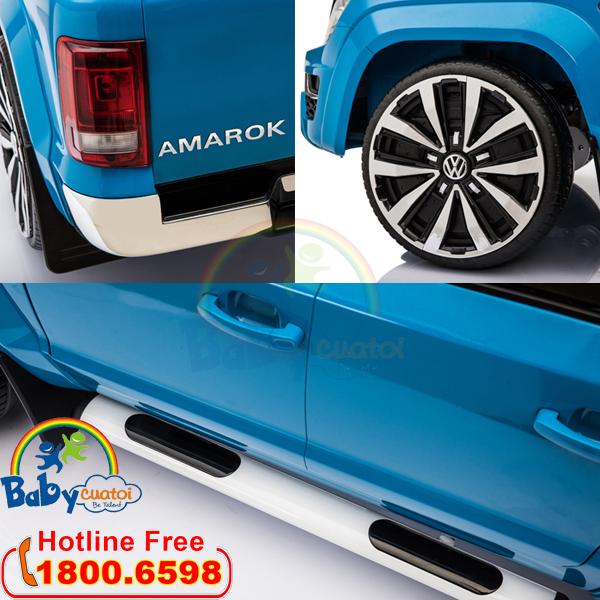 Ô tô điện bản quyền Volkswagen Amarok màu xanh